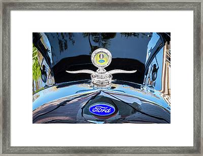 1929 Ford Model A Hood Ornament  Framed Print by Rich Franco