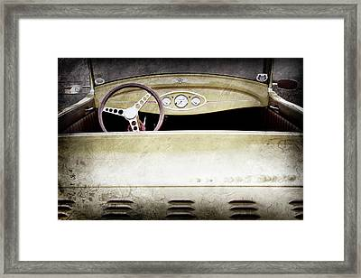 1929 Ford Model A Roadster -0040ac Framed Print by Jill Reger
