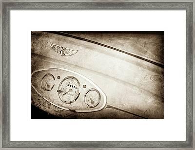 1929 Ford Model A Roadster Dashboard Emblem -0048s Framed Print