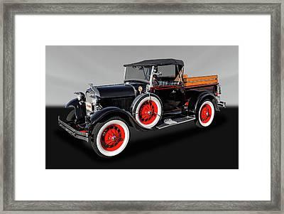 1929 Ford Model A Roadster Pickup  -  29fdmdardgray063 Framed Print