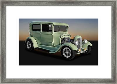 1929 Ford Model A Tudor Sedan  -  1929fd2drsed9769 Framed Print