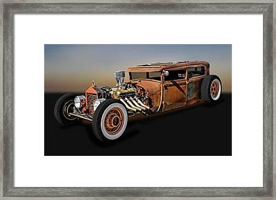 1929 Ford Model A Tudor Sedan Rat Rod  -  29fordratrod9483 Framed Print