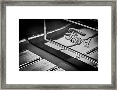 1929 Ford Roadster Pickup Truck -0158bw Framed Print