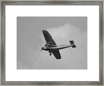 1929 Ford Tri Motor Mail Plane Framed Print by David Dunham