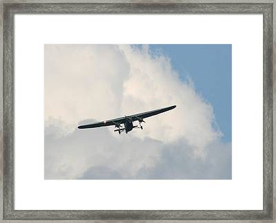 1929 Ford Tri Motor Mail Plane Incoming Framed Print by David Dunham