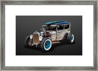1929 Ford Tudor Sedan Rat Rod   -   29fdtudor87 Framed Print