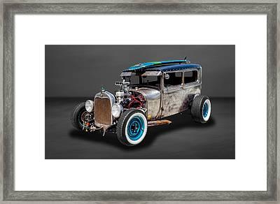 1929 Ford Tudor Sedan Rat Rod  -  29fdtudorrr97 Framed Print