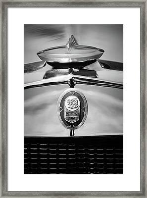 1929 Graham-paige Sport Roadster Emblem -0810bw Framed Print
