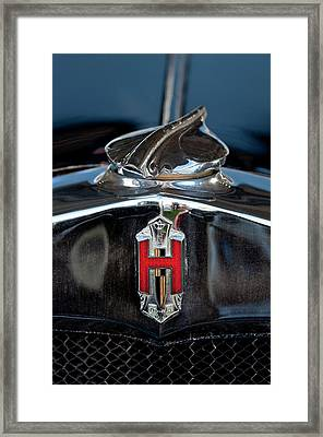 1929 Hupmobile Century Six Sedan Hood Ornament Framed Print by Jill Reger