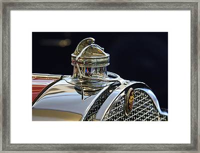 1929 Packard 8 Hood Ornament 3 Framed Print by Jill Reger