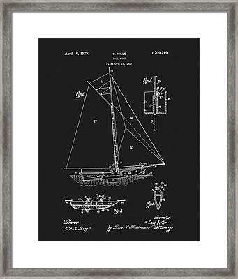 1929 Sailboat Framed Print by Dan Sproul