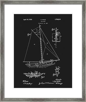 1929 Sailboat Framed Print
