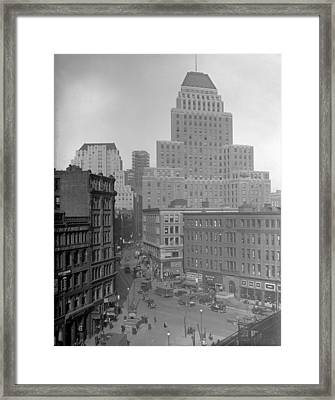 Framed Print featuring the photograph 1929 Summer Street In Dock Square Boston by Historic Image