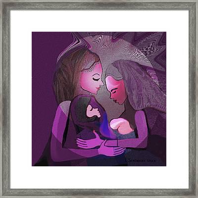 193 - Women -  Child   Framed Print by Irmgard Schoendorf Welch