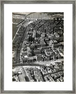 Framed Print featuring the photograph 1930 Along Charles Street, Boston by Historic Image