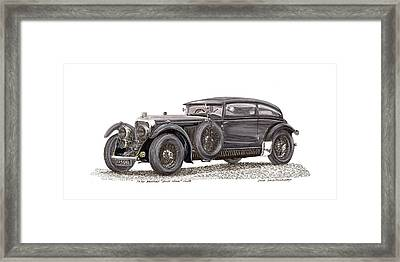 1930 Bentley Blue Train Coupe Framed Print
