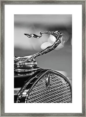 1930 Cadillac Roadster Hood Ornament 2 Framed Print by Jill Reger