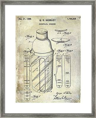 1930 Cocktail Shaker Patent Framed Print