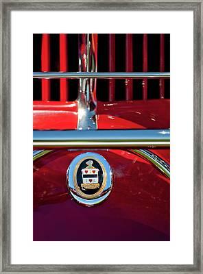 1930 Cord L29 Phaeton Emblem Framed Print by Jill Reger