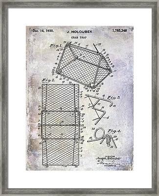 1930 Crab Trap Patent Framed Print