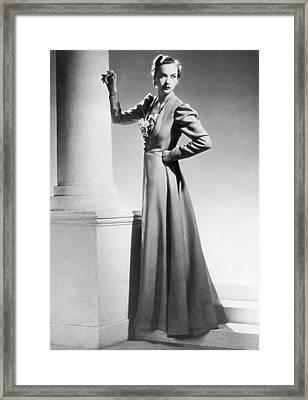 1930 Fashion Model Framed Print by Underwood Archives