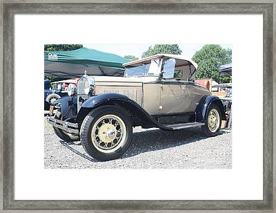 1930 Ford Model A Convertible Framed Print by John Telfer