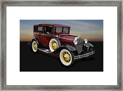 1930 Ford Model A Fordor Town Sedan  -  1930fd2doorsed9869 Framed Print by Frank J Benz