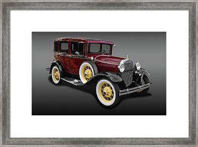 1930 Ford Model A Fordor Town Sedan  -  1930ford2dsedfa9869 Framed Print by Frank J Benz