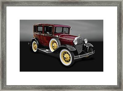 1930 Ford Model A Fordor Town Sedan  -  30fordsedgry9869 Framed Print by Frank J Benz