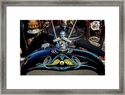 1930 Ford Sedan Rat Rod Radiator Cap Ornament  -  30fdrad100 Framed Print by Frank J Benz