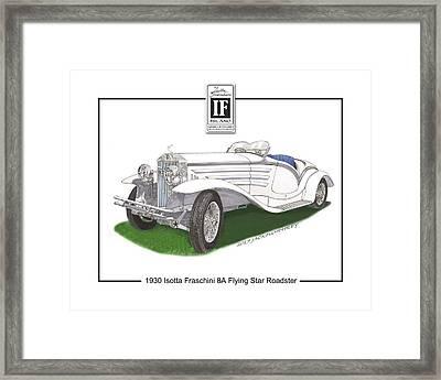 1930 Isotta Fraschini 8a Flying Star Roadster Framed Print by Jack Pumphrey