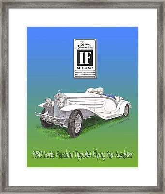 1930 Isotta Fraschini Tippo 8 A Flying Star Roadster Framed Print by Jack Pumphrey