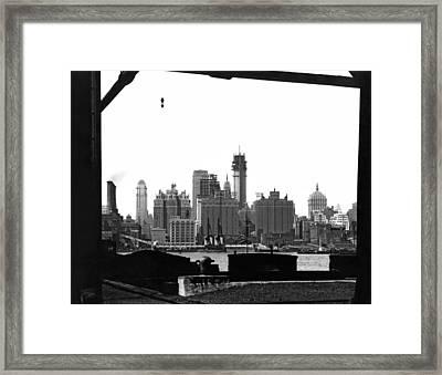 1930 Midtown Manhattan Framed Print