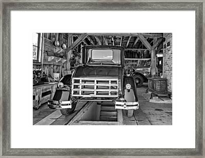 1930 Model T Ford 2 - Bw Framed Print