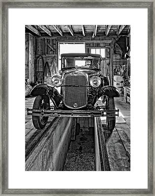 1930 Model T Ford Monochrome Framed Print