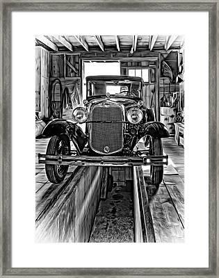 1930 Model T Ford - Vignette Framed Print