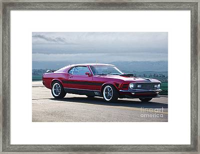 1930 Mustang Mach I Fastback Framed Print