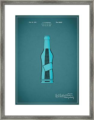 1930 Pepsi Cola Bottle Patent Framed Print by Mark Rogan