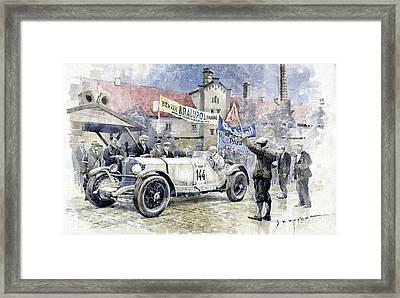 1930 Zbraslav-jiloviste Regularity Ride To The Top Mercedes Benz Ssk  Rudolf Caracciola Winner. Framed Print