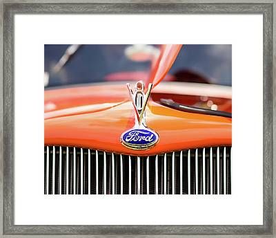 1930s Ford Coupe Grille And Hood Ornament Framed Print