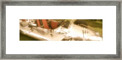 1930s Single Seater Racing Car Detail Framed Print