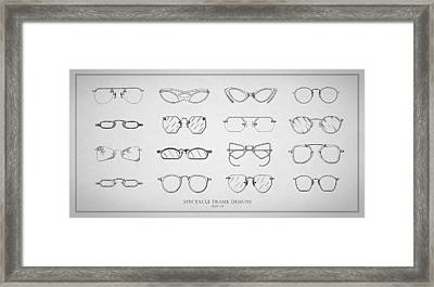 1930s Spectacle Designs Framed Print by Mark Rogan