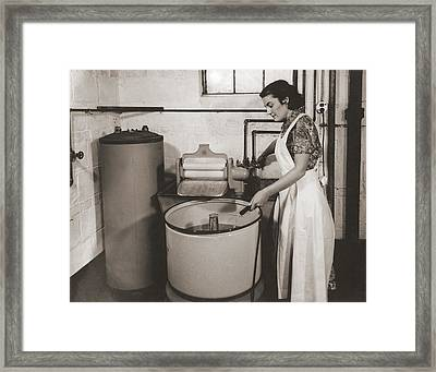 1930s State Of The Art Home Laundry Framed Print
