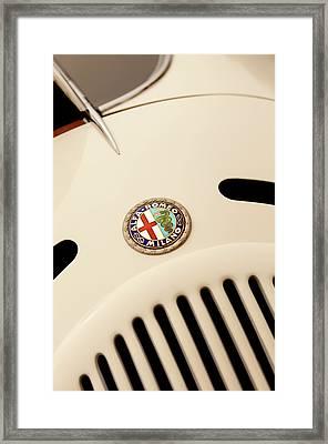 1931 Alfa Romeo 6c 1750 Gran Sport Aprile Spider Corsa Hood Emblem Framed Print