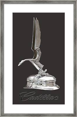 1931 Cadillac 355 V 8 Mascot Framed Print by Jack Pumphrey