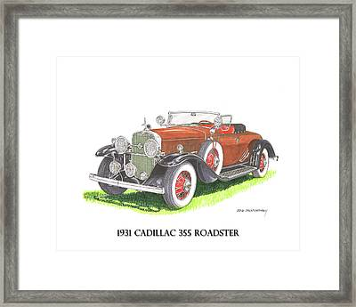 1931 Cadillac 355 V 8 Roadster Framed Print by Jack Pumphrey