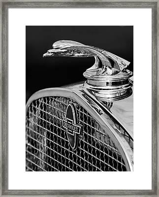 1931 Chevrolet Hood Ornament 4 Framed Print