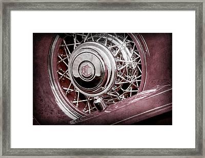1931 Chrysler Cg Imperial Dual Cowl Phaeton Spare Tire Emblem -0699ac Framed Print