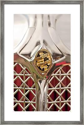 1931 Chrysler Cg Imperial Lebaron Roadster Grille Emblem Framed Print
