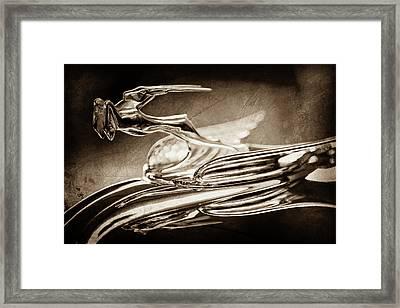 1931 Chrysler Cg Imperial Roadster Hood Ornament -0561s Framed Print by Jill Reger